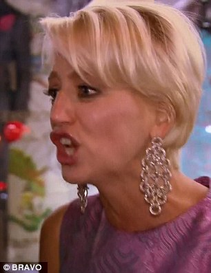 War of words: The women continued their fight outside the party on Wednesday's dramatic episode