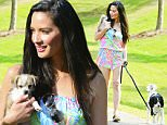 Mandatory Credit: Photo by Startraks Photo/REX/Shutterstock (5689194e)\nOlivia Munn with dogs\nOlivia Munn out and about, Atlanta, America - 18 May 2016\nOlivia Munn Ready For Summer Wearing a Lilly Pulitzer Romper\n