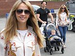 17.5.16...... Coronation Streets Samia Ghadie is spotted with her fiance Sylvain Longchambon anth their son Yves Joseph on a shopping trip to Wilmslow town centre.