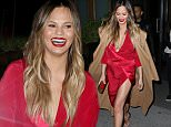 18.May.2016 - New York ñ USA\n**EXCLUSIVE ALL ROUND PICTURES**\n*** STRICTLY AVAILABLE FOR UK AND GERMANY USE ONLY ***\nNew York, NY - Chrissy Teigen and John Legend make it a date night and head out to dinner in West Village together. John wore a black-and-white ensemble with leather as his lovely model wife wore a loose red dress with tan leather strappy heels and a smile.\nBYLINE MUST READ : AKM-GSI-XPOSURE\n***UK CLIENTS - PICTURES CONTAINING CHILDREN PLEASE PIXELATE FACE PRIOR TO PUBLICATION ***\n*UK CLIENTS MUST CALL PRIOR TO TV OR ONLINE USAGE PLEASE TELEPHONE 0208 344 2007*