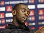 "Britain Football Soccer - Crystal Palace - FA Cup Final Media Day - Crystal Palace Training Ground - 16/5/16  Yannick Bolasie of Crystal Palace during a press conference  Action Images via Reuters / Henry Browne  Livepic  EDITORIAL USE ONLY. No use with unauthorized audio, video, data, fixture lists, club/league logos or ""live"" services. Online in-match use limited to 45 images, no video emulation. No use in betting, games or single club/league/player publications.  Please contact your account representative for further details."