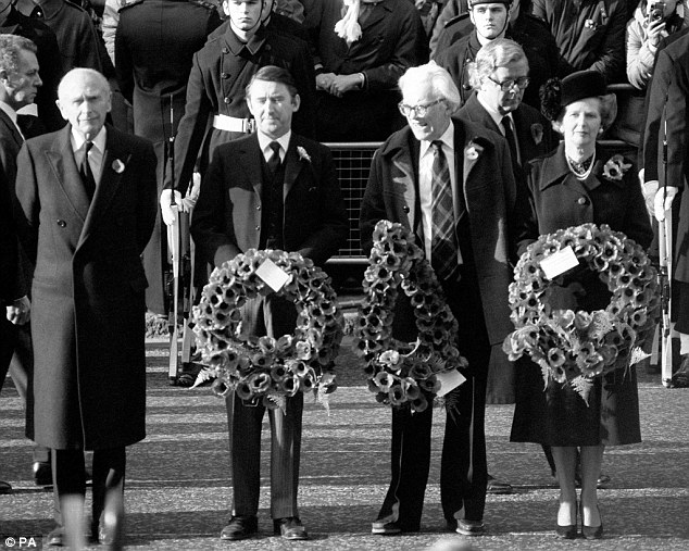 Keith McDowall was also fond of Michael Foot (pictured with Liberal leader David Steel and Prime Minister Margaret Thatcher), the Left-wing Labour leader, whom he found friendly and humorous to work with - although he watched him become a pushover for the unions