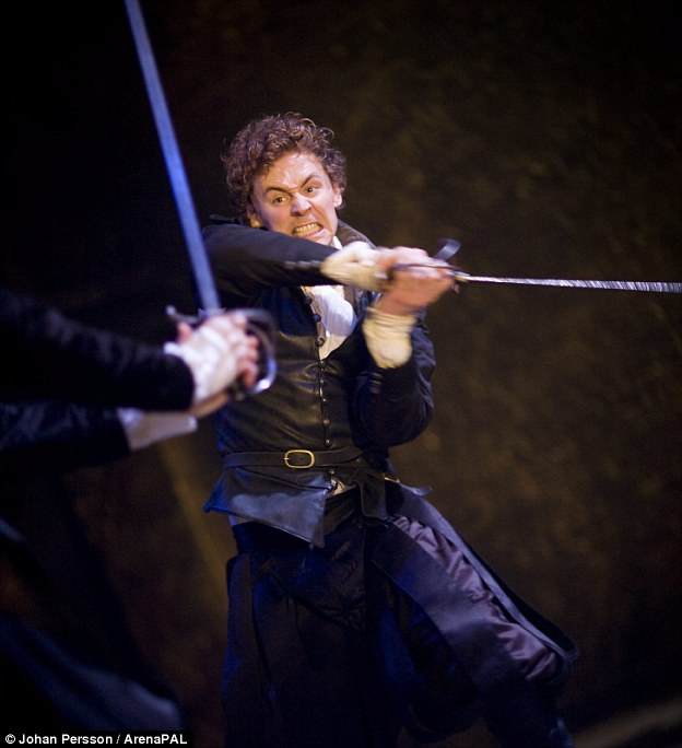 The Licence to Kill Tom first showed his hand-to-hand combat skills on stage in the Shakespeare plays Othello (left) and Coriolanus, before perfecting his action-man status as Loki in the Thor films.