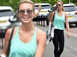 Alex Gerrard seen leaving the gym with her friends in Liverpool øø***Exclusive All Round***