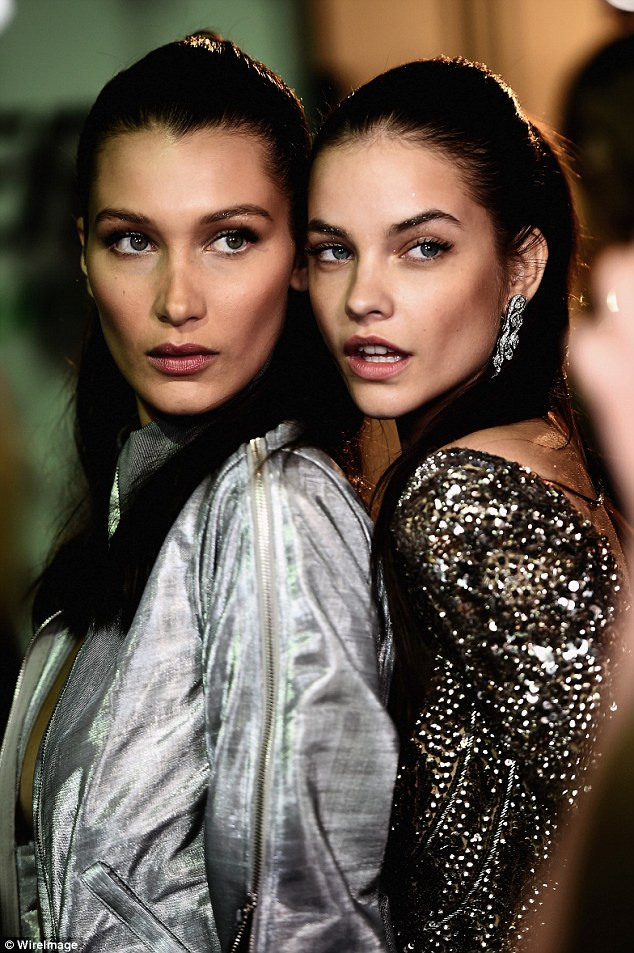 Gal pals: Bella was joined on the runway by close friend Barbara Palvin