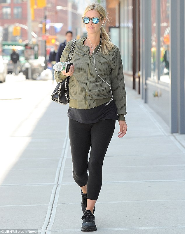 Getting it right: Nicky Hilton, 32, managed to merge both style and comfort successfully while walking through the streets of New York on Wednesday