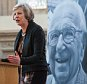 """Home Secretary Theresa May speaks at the memorial service for Sir Nicholas Winton at the Old Library at the Guildhall, in central London. PRESS ASSOCIATION Photo. Picture date: Thursday May 19, 2016. Known as """"Britain's Schindler"""", Sir Nicholas, who died last year aged 106, helped 669 mostly Jewish children flee Nazi-occupied Czechoslovakia just before the outbreak of the Second World War. See PA story MEMORIAL Winton. Photo credit should read: Dominic Lipinski/PA Wire"""