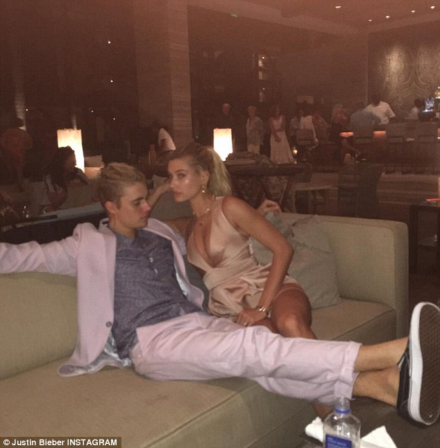 Tumultuous: While the pair have been linked on and off since late last year, Hailey revealed to E! in February that they 'are not an exclusive couple'