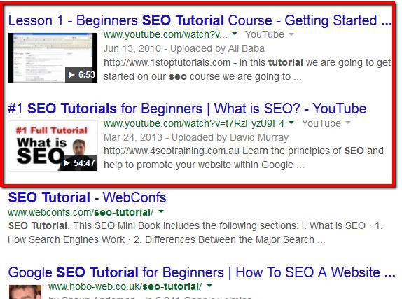 seo tutorial sonuçları