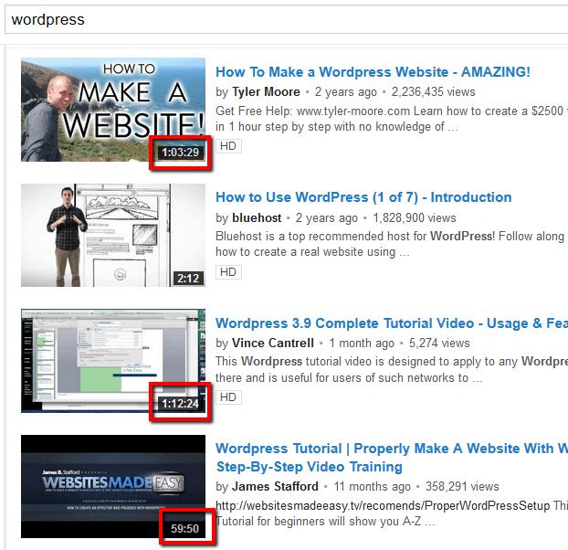 youtube arama sonuçları