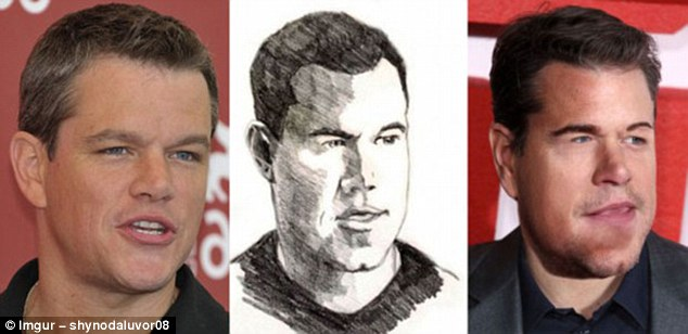 Poor Matty Damon is virtually unrecognisable in this fan art gone wrong