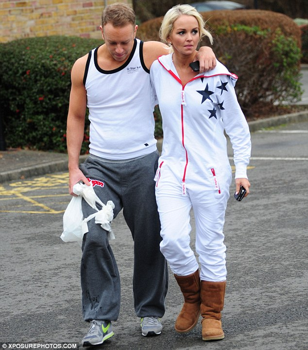 Later, Jennifer was pictured with injured dance partner Dan Whiston, who needed to lean on her for support