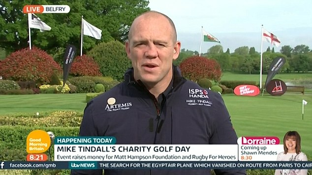 Mike Tindall, 37, has revealed on Good Morning Britain how the adorable moment happened because his daughter was being a bit 'naughty'