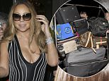 Mariah Carey leaving Claridges in London with many loads of luggage  Pictured: Mariah Carey  Ref: SPL1285979  190516   Picture by: Splash News  Splash News and Pictures Los Angeles: 310-821-2666 New York: 212-619-2666 London: 870-934-2666 photodesk@splashnews.com
