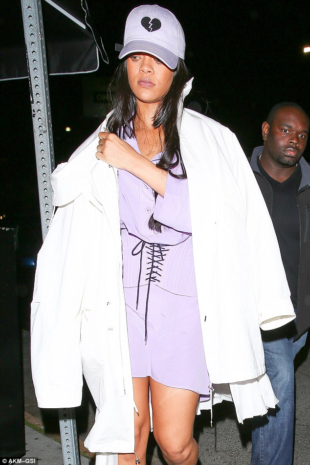 Popstar of the people! Despite her superstar status, Rihanna also settled in among the fellow customers, with her bodyguard only said to intervene when girls attempted to follow her into the toilet