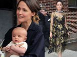 Picture Shows: Rose Byrne  May 19, 2016\n \n Actress Rose Byrne making an appearance on the 'Late Show With Stephen Colbert' in New York City, New York. The 'Neighbors 2: Sorority Rising' star was looking amazing in a black and gold tiered dress.\n \n Non Exclusive\n UK RIGHTS ONLY\n \n Pictures by : FameFlynet UK � 2016\n Tel : +44 (0)20 3551 5049\n Email : info@fameflynet.uk.com