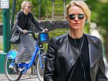 EXCLUSIVE: Naomi Watts Spotted wearing a leather biker jacket and striped dress as she rides her CitiBike around the West Village, NYC\n\nPictured: Naomi Watts\nRef: SPL1284843  180516   EXCLUSIVE\nPicture by: Splash News\n\nSplash News and Pictures\nLos Angeles: 310-821-2666\nNew York: 212-619-2666\nLondon: 870-934-2666\nphotodesk@splashnews.com\n