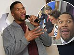 NEW YORK, NY - MAY 18:  Retired professional football player/television show host Michael Strahan speaks during the launch of his new MSX clothing line for JC Penney on May 18, 2016 in New York City.  (Photo by Brent N. Clarke/Getty Images)