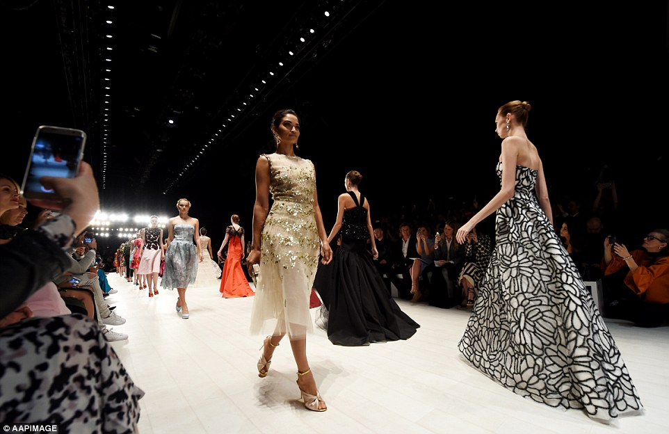 Stepping in style: Oscar de la Renta showcased a range of couture and ready-to-wear designs