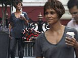 LONDON, UNITED KINGDOM - MAY 12: (EXCLUSIVE COVERAGE) (MINIMUM ONLINE USAGE FEE 200 FOR THE SET) (MINIMUM PRINT USAGE FEE 250 PER IMAGE) Actress Halle Berry is pictured arriving back at a London hotel on May 12, 2016 in London, England. (Photo by Ada Houghton/GC Images)