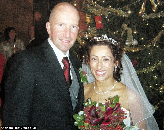 Happier times: Saira married internet company boss Steven Hyde, from Essex, in 2005 after they met in 2002
