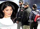 PartyNextDoor  and Kylie Jenner leaving the TCL Theatre