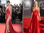 """Bella Hadid """"fighting"""" with her red suite on the red carpet of the film """"La Fille inconnue"""" at 69th Cannes Film Festival\n<P>\nPictured: Bella Hadid\n<B>Ref: SPL1283656  180516  </B><BR/>\nPicture by: Cats / Splash News<BR/>\n</P><P>\n<B>Splash News and Pictures</B><BR/>\nLos Angeles: 310-821-2666<BR/>\nNew York: 212-619-2666<BR/>\nLondon: 870-934-2666<BR/>\nphotodesk@splashnews.com<BR/>\n</P>"""