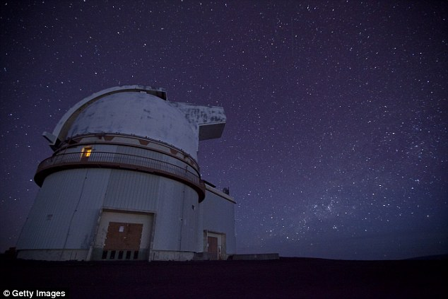 An international team, led by researchers at the University of California, Davis, used a special instrument on the 10-metre telescope at the Keck Observatory in Hawaii (pictured), as well as images from the Hubble Space Telescope