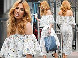 Picture Shows: Stacey Solomon  May 19, 2016    Singer Stacey Solomon spotted leaving the ITV studios in London, England. Stacey was dressed stylishly in a floral off the shoulder jumpsuit and nude heels.    Non Exclusive  WORLDWIDE RIGHTS    Pictures by : FameFlynet UK � 2016  Tel : +44 (0)20 3551 5049  Email : info@fameflynet.uk.com