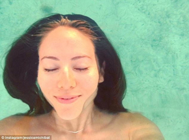 Carefree: She shared pictures of her skinny dipping in the sea, feeling carefree