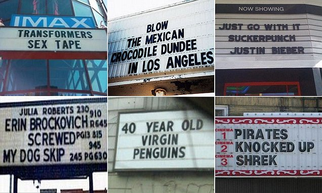 Hilarious photos show what happens when cinema listings go wrong