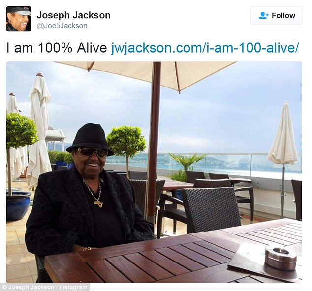 Confirmation: The Jackson leader shared a photo addressing his situation on Twitter on Thursday
