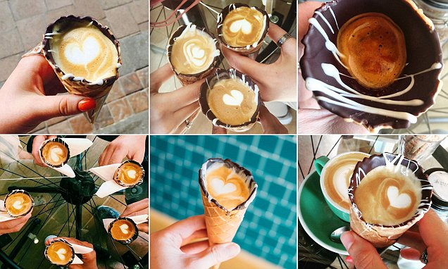 Is this the most Instagrammed coffee ever? Hot drink served in a CONE becomes a online hit