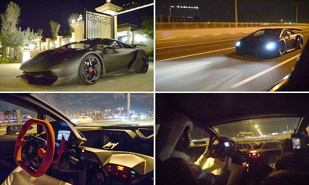 Lamborghini ride just for you, thanks to video footage from inside the car