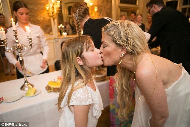 Too cute: The 43-year-old shared a sweet mother daughter moment with Stella