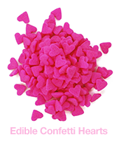 Edible Confetti Hearts