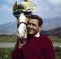 "FILE - In this March 22, 1962 file photo, actor Alan Young poses with the ""Mister Ed,"" horse. Young died Thursday, May 19, 2016. He was 96. (AP Photo, File)"