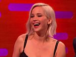 Jennifer Lawrence and James McAvoy on 'The Graham Norton Show'. Broadcast on BBC1 HD. Featuring: Jennifer Lawrence, James McAvoy Where: United Kingdom When: 13 May 2016 Credit: Supplied by WENN **WENN does not claim any ownership including but not limited to Copyright, License in attached material. Fees charged by WENN are for WENN's services only, do not, nor are they intended to, convey to the user any ownership of Copyright, License in material. By publishing this material you expressly agree to indemnify, to hold WENN, its directors, shareholders, employees harmless from any loss, claims, damages, demands, expenses (including legal fees), any causes of action, allegation against WENN arising out of, connected in any way with publication of the material.**