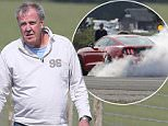 Picture Shows: Jeremy Clarkson  May 19, 2016    **Min �250 Web / Online Set Usage Fee**  **VIDEO AVAILABLE UPON REQUEST**    Jeremy Clarkson and Richard Hammond spotted filming their rival 'Top Gear' show for Amazon as they replicate the Doughnut spins on a track mocking their BBC rivals recent controversy when they filmed in the heart of London.     The former 'Top Gear' presenters were testing out their cars in Devon and Somerset in England.    **Min �250 Web / Online Set Usage Fee**    Exclusive - All Round  WORLDWIDE RIGHTS  Pictures by : FameFlynet UK � 2016  Tel : +44 (0)20 3551 5049  Email : info@fameflynet.uk.com
