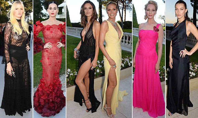 Karlie Kloss, Alessandra Ambrosio and Heidi Klum show some serious leg as they take on