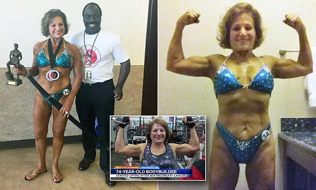 Superwoman! 74-year-old champion body builder who only began weightlifting after beating