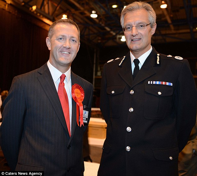 'Regret': David Crompton, Chief Constable of South Yorkshire Police (right with Police and Crime Commissioner Shaun Wright), vows to fully investigate the report's findings which 'made for painful reading'