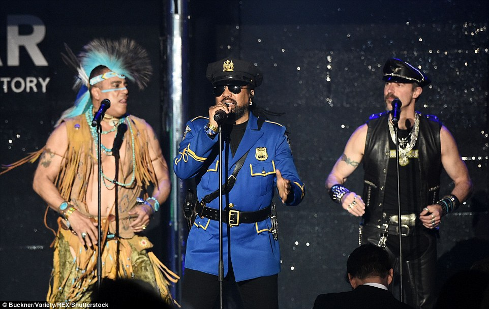 Go west! The Village People's performance was just a slice of the fun-filled atmosphere from within the bash