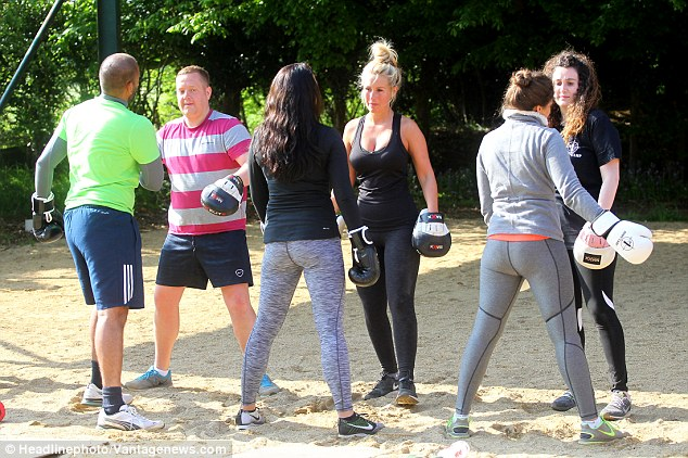 Dynamic duo: Kate took part in the bootcamp with TOWIE co-star, James 'Arg' Argent