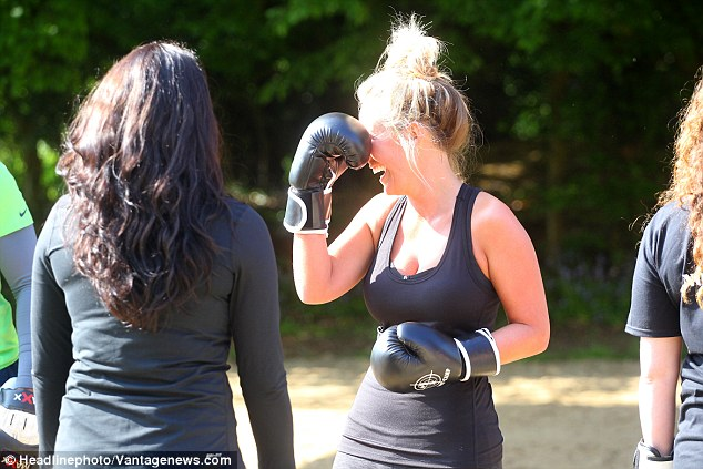 Gloves are off: The activities came after Kate enjoyed a romantic getaway to Mexico with her on-again, off-again beau, Dan Edgar, last week