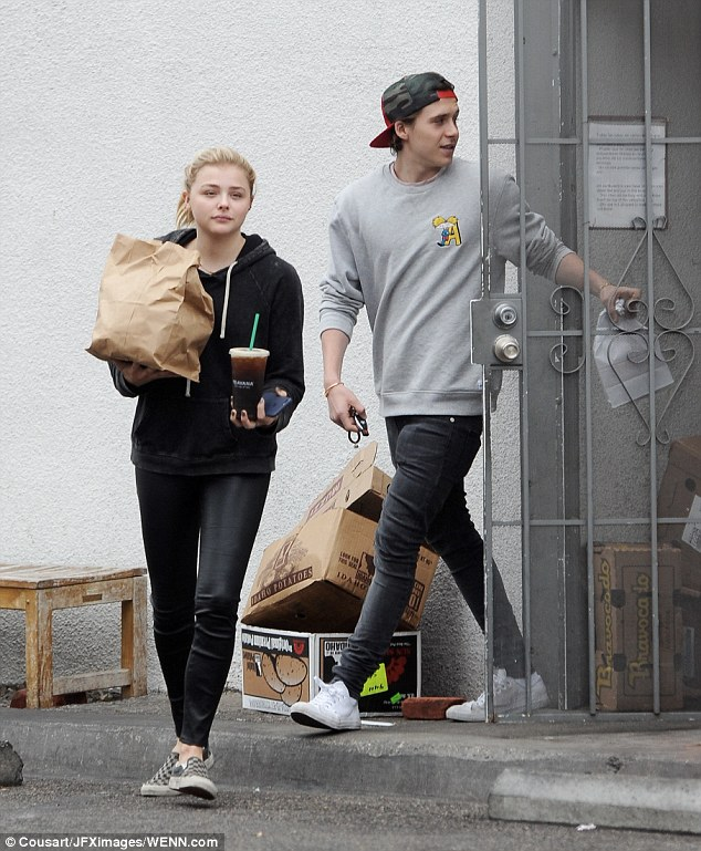 Two's company: Hours after making the confession about her boyfriend, Chloe spent some more time with the star as they went shopping together in Los Angeles on Friday