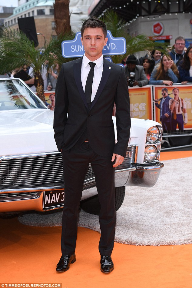 Dapper: Union J's JJ Hamblett was suited and booted for the star-studded premiere