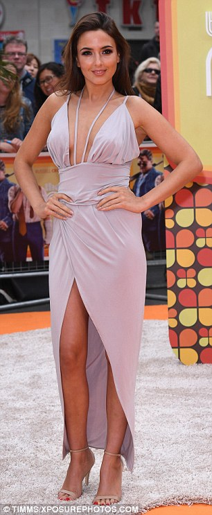 Revealing: Nadia Forde also ripped up the fashion rulebook and decided to flaunt both leg and cleavage