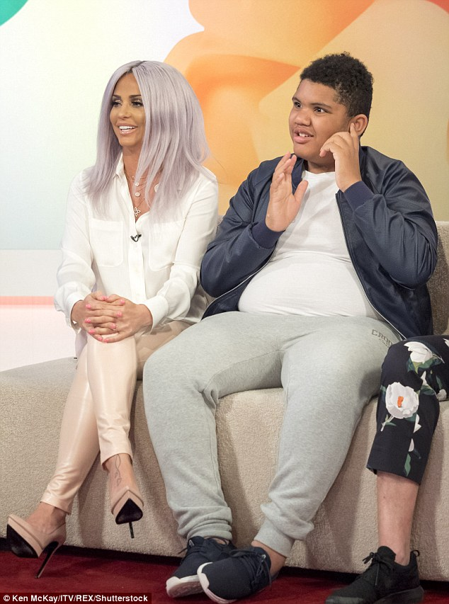 Raising awareness: Katie spoke out on her other big TV moment this week during the show with Rylan, after she appeared with son Harvey, 13, on Loose Women