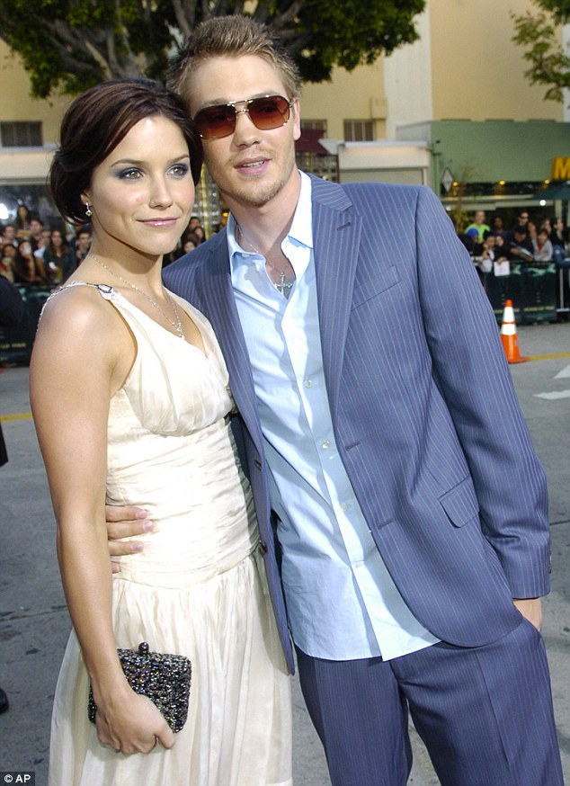 Split: Sophia shot to fame after starring as Brooke Davis in One Tree Hill and famously married to her co-star Chad Michael Murray in April 2005. The pair were later granted a divorce in December 2006